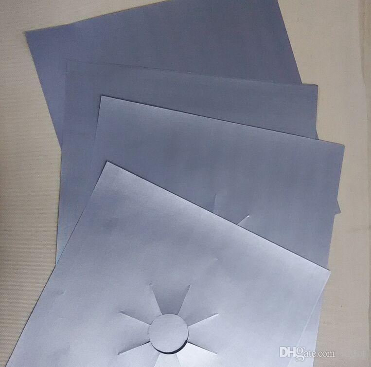 Protecteurs de cuisinière à gaz en papier d'aluminium réutilisables / Couverture / Doublure Réutilisables en silicone antiadhésif allant au lave-vaisselle