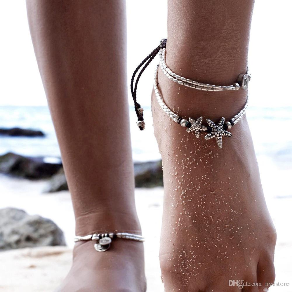 artificial pin jewelry stone new ankle enkelbandje boho foot for you bracelet if women beads barefoot bracelets anklets and anklet beach sandals