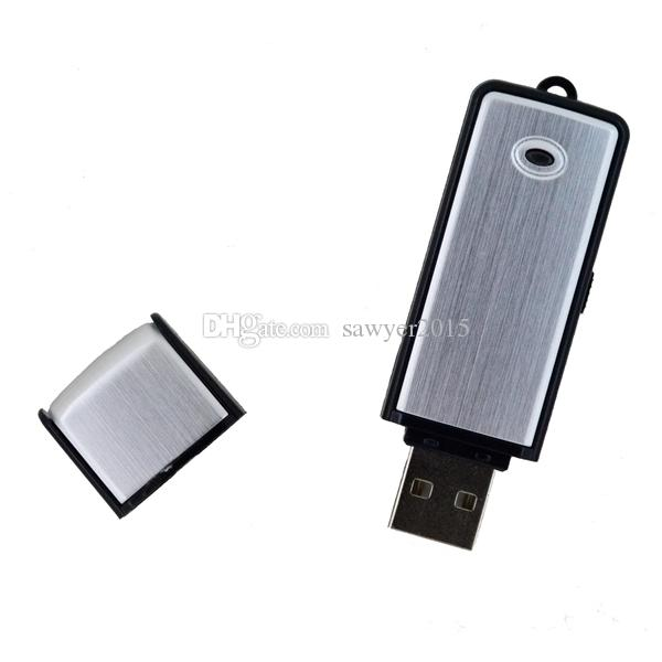 Mini USB Disk Audio Voice Recorder 4/8GB USB Flash Drive Recording Digital Voice Recorder Dictaphone Rechargeable Blue black