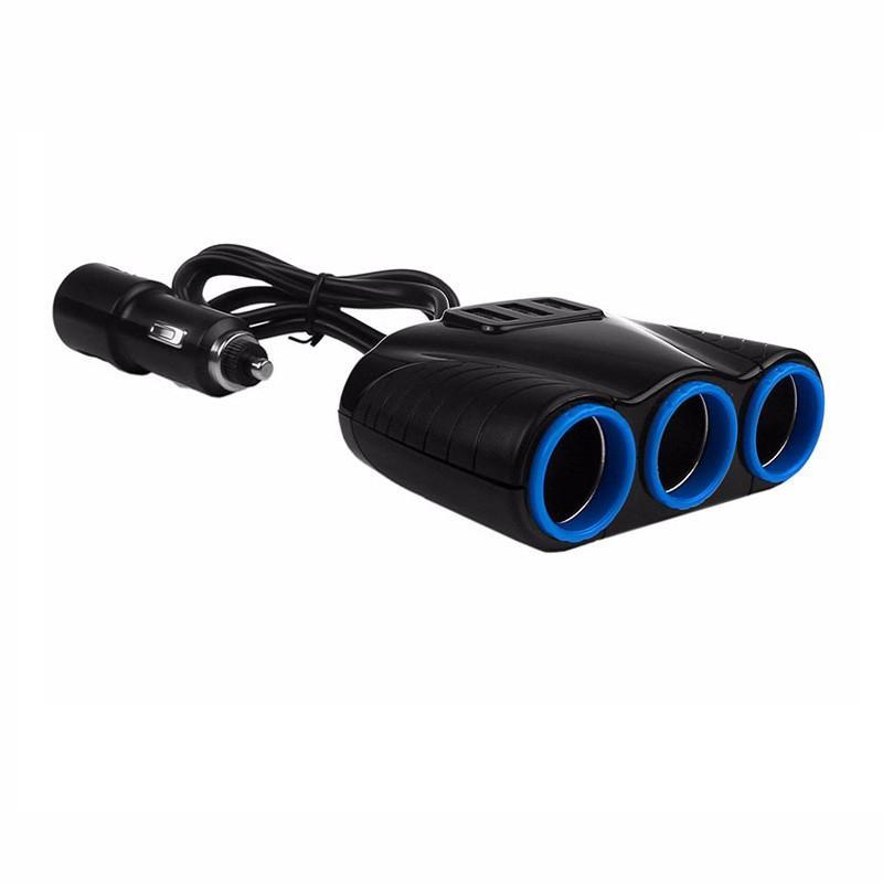 12V/24V 120W 3 Way Auto Sockets Car Cigarette Lighter Adapter Lighter Splitter Lighter 5V 3.1A Output Power 3 USB Car Charger