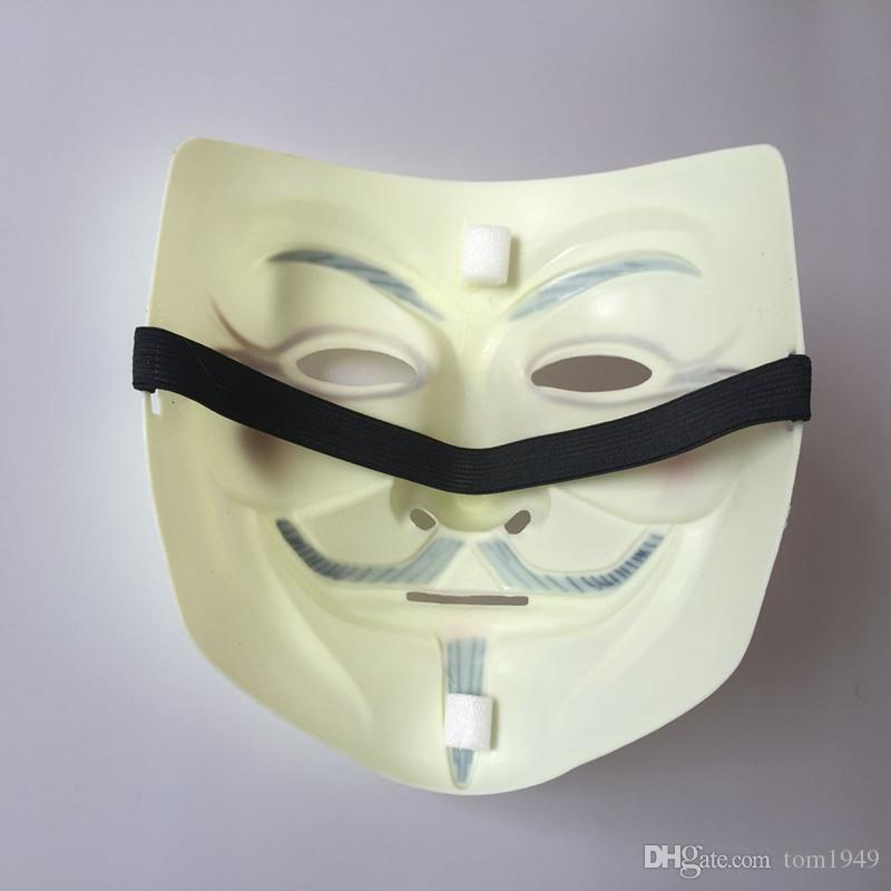 Cosplay Face Mask V For Vendetta Guy Fawkes Mask Costume Halloween Masquerade Party Masks Christmas Gifts