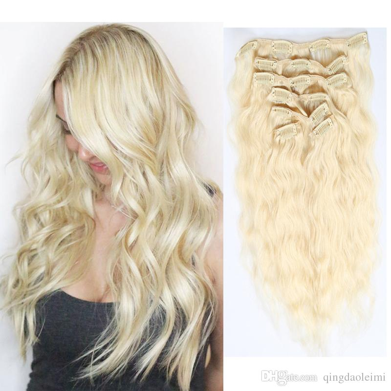 Direct Factory Price Clip In On Hair Extensions Real Human Hair