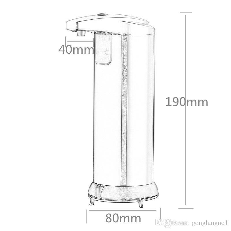 220ml Automatischer Flüssigseifenspender Eingebauter Infrarot Smart Sensor Berührungsloser Desinfektionsspender für Küche und Bad
