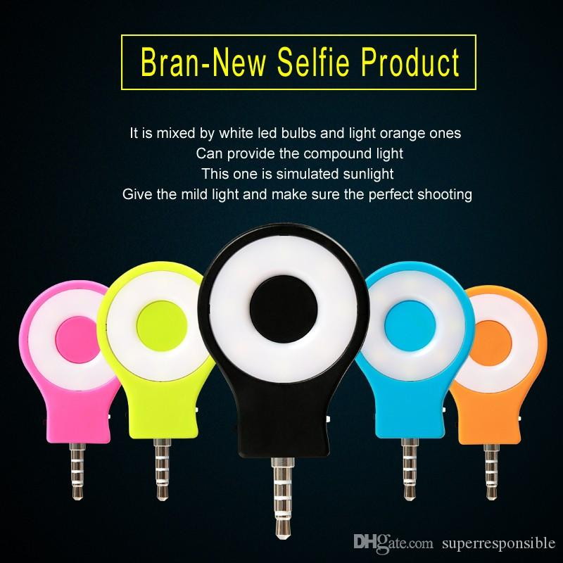 Şarj edilebilir 8 LED Flaş Işık Up Özçekim Mini Özçekim Sync kamera telefonu Feneri iphone samsung HTC SONY LG için
