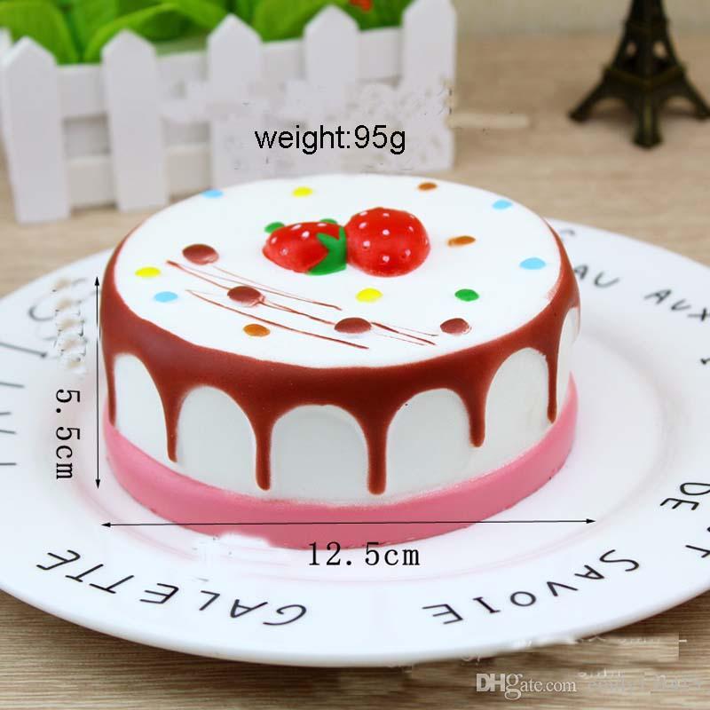 2017 The New Style Slow Rising Rare Squishy Jumbo Round Cake Toy