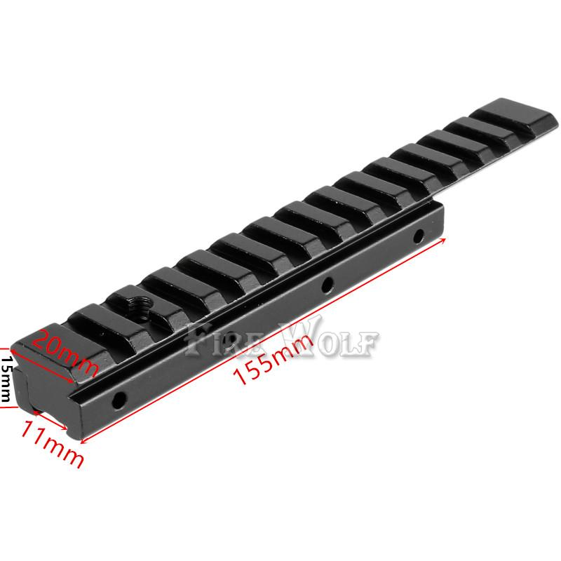 FFIRE WOLF Dovetail Weaver Picatinny Rail Adapter 11mm to 20mm/21mm Tactical Scope Extend Mount for Hunting