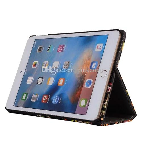 color painting retro crazy horse multi function wallet card hand strap folding folio leather case cover for iPad Pro 10.5