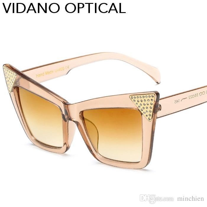 Compre Vidano Óptica Nova Chegada Inteligente Ocasional Do Partido Do Olho  De Gato Óculos De Sol Para Homens Mulheres Designer De Moda Marca Cateye  Óculos ... 543ac3b97f