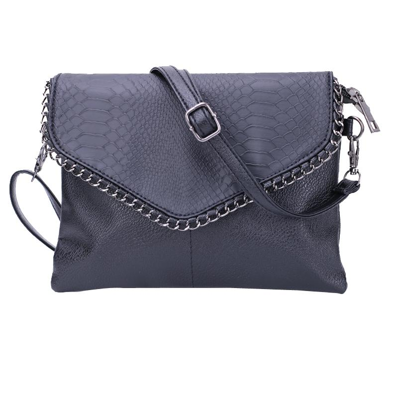 Wholesale-Cheap Women Envelope Bag Pu leather Handbag shoulder bags Ladies Crossbody Sling Messenger Bag Purses Blue Black Brown 7 colors