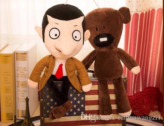 2 ADET Sayın Fasulye 40 cm Onun Teddy Bear 28 CM Set Peluş Oyuncak Yumuşak Dolması Çocuk Oyuncak Bebekler Çocuk Hediye