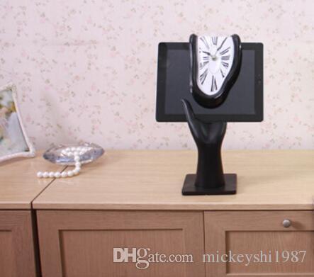 Orologi da tavolo Block creativi Twist Clock Roman Digital Angolo retto Retro Deformation Time Clock Orologi da tavolo Digital Alarm Clock