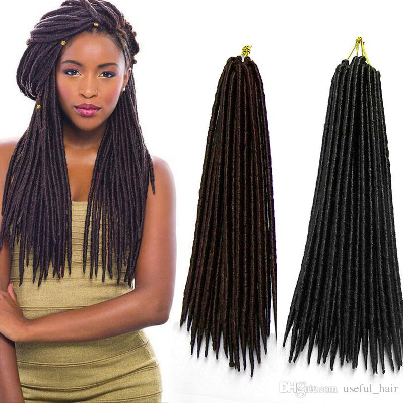 Faux Locks Synthetic Hair Extension Straight 24strandspcs