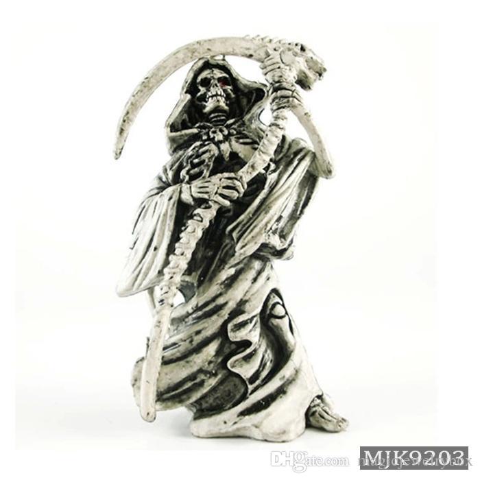 NOUVELLY SKULL Porte-clés en caoutchouc Devil Devil Death Monster Moteur Voiture Chaîne Clé Chaîne Pirate Pirate Bague Chaveiro Llaveros Hommes Accessoires de relinket Cadeau
