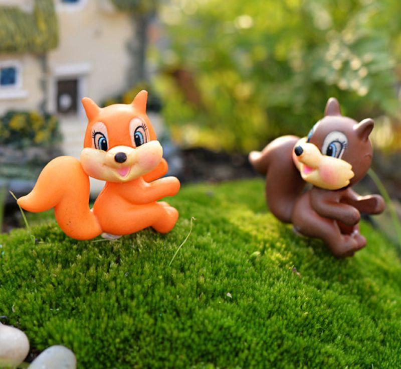 2018 Big Tail Squirrel Miniature Fairy Garden Decorations Terrarium Jardin  Figurines Animal Home Bonsai Ornament From Cakeworld, $5.33 | Dhgate.Com
