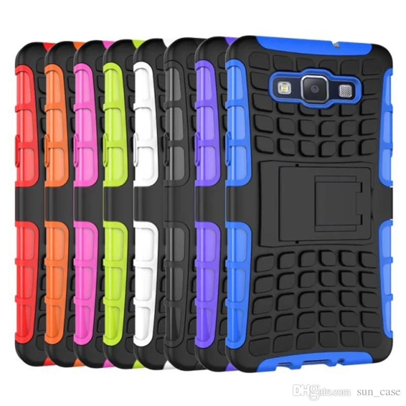 2 in 1 Case For iPhone 5S 5SE 5C 6S 6Plus 7G 8 Plus iPod Touch 5/6 Heavy Duty Armor Cover Hard Back Stand With Kickstand Shell