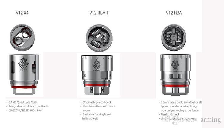 Best Smok Tfv12 Coil Head V12 T12 V12 T6 V12 Q4 V12 X4 V12 Rba ...