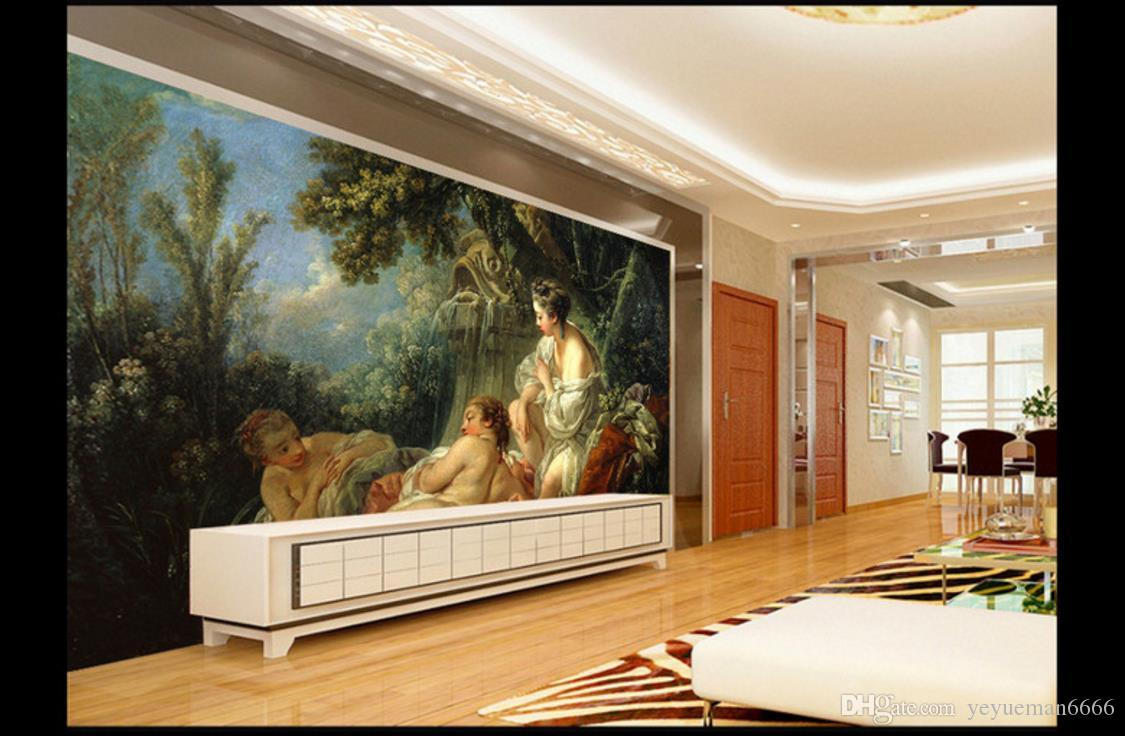 3D Photo Lake and mountains European Wall Murals Beautiful Landscape Wallpaper Murals TV Wall Decoration Painting