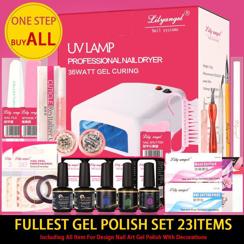 Wholesale Lily Angel Fullest Nail Art Starter Kit For Pro. Nail Art ...