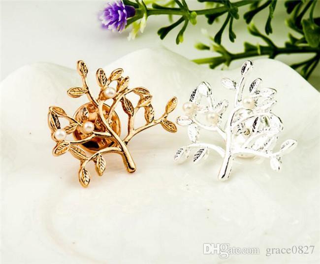 Silver Tone Clear Rhinestone Crystal Brooch Flower Girls' Corsage Fashion Brooch Wedding Bridal Bouquet New in Pins Brooches