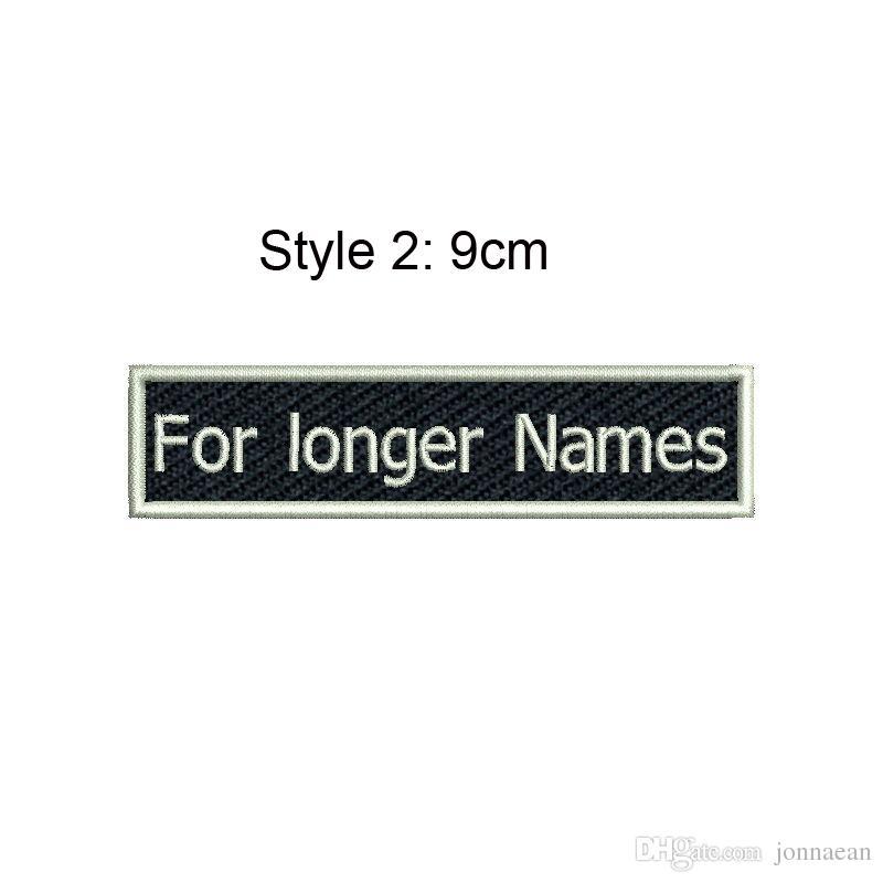 Cool nome personalizzato Tag Patch ricamata Cucire o stirare su abbigliamento e cappelli Tutti i tipi di carattere Taglie e colori sono disponibili Patch