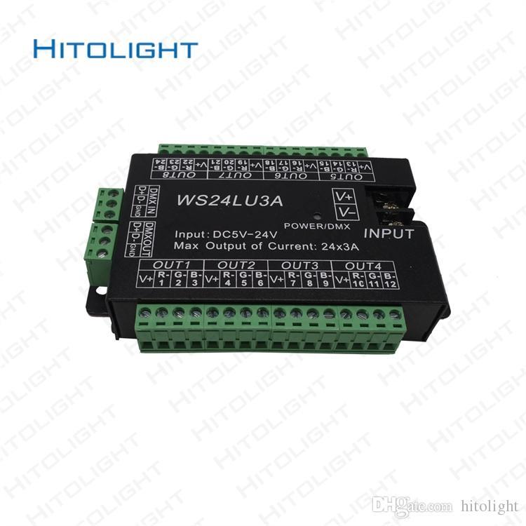 Großhandel Hitolight Dc5 24v Ws24lu3a Dmx512 Decoder 24ch Einfach ...