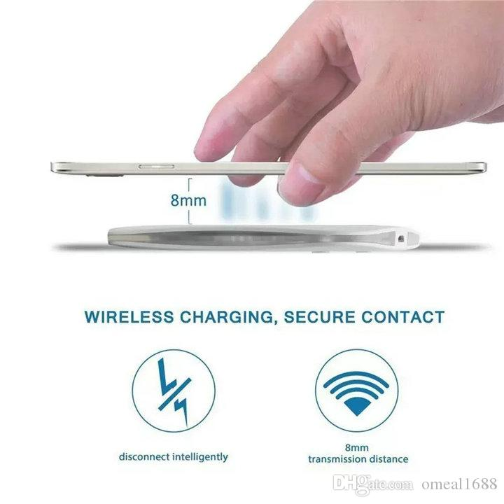 شاحن لاسلكي سريع Qi لشحن شاحن لاسلكي بسطح مطاطي مقاوم للانزلاق لأجهزة iPhone 8 Plus X Samsung Note 8 S10 S9 S8
