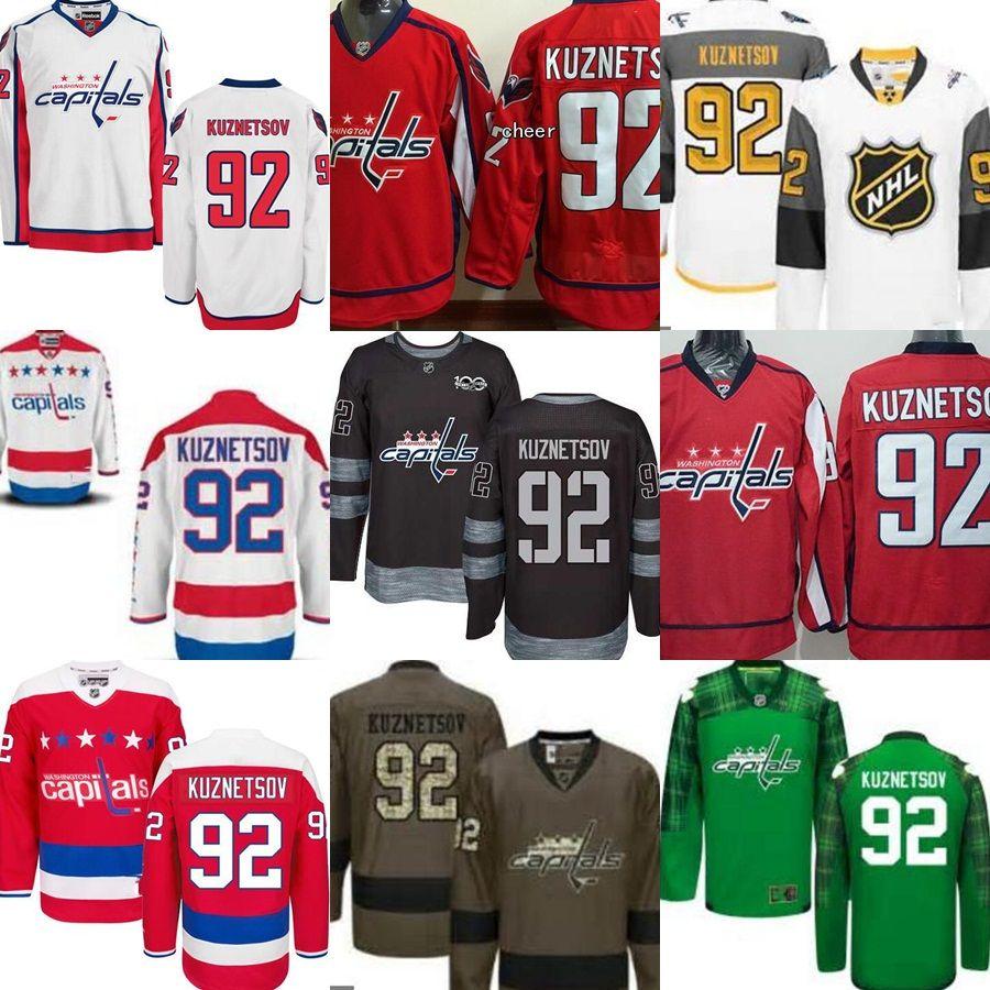 ... stitched nhl jerseys mens 2017 washington capitals 92 evgeny kuznetsov  red green white black ice hockey e8083524ce37
