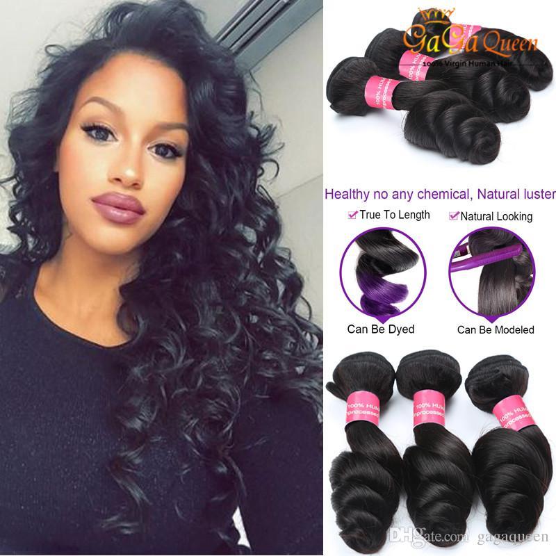 Virgin Peruvian Human Hair 4 Bundles Deal Peruvian Loose Wave Extension  Grade 8A Peruvian Virgin Hair Loose Wave Weave Bundle Best Hair Weave For  Black ... 7025caa14f