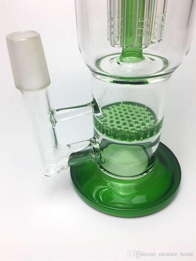 """12"""" Height Glass Water pipe glass bongs for sale water pipe with arm tree percolator and honeycomb three color available"""