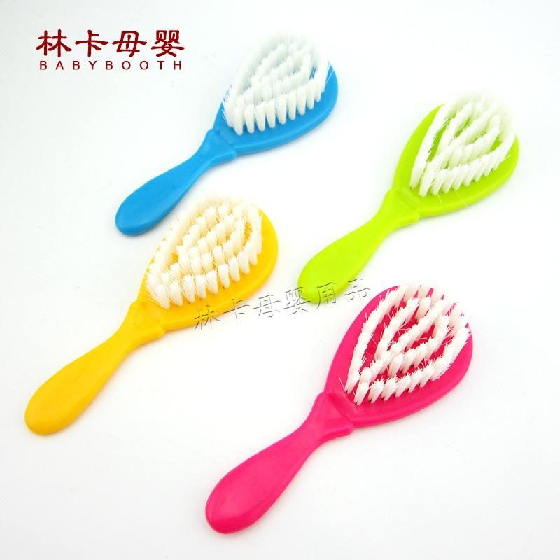Wholesale- 2016 New Hot Solid 7-9 Months 10-12 Months Plastic Sale Baby Brush Boy Girl Safety Soft Hair Shower Design Scalps Free Shipping