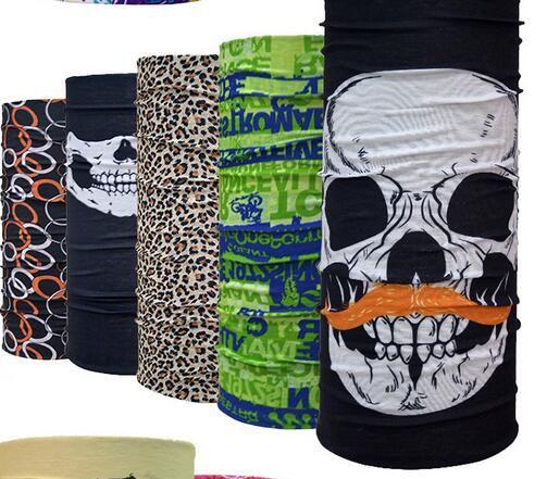 Natale unisex Halloween Cosplay Bicicletta Ski Skull Mezza Maschera Sciarpa Fantasma Bandana Collo Scaldino Fascia feste Magia Turbante passamontagna