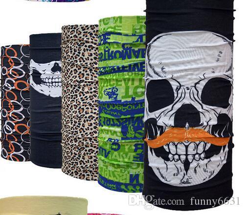 Weihnachten Unisex Halloween Cosplay Fahrrad Skischädel Hälfte Gesichtsmaske Ghost Schal Bandana Neck Wärmer Party Stirnband Magie Turban Balaclava