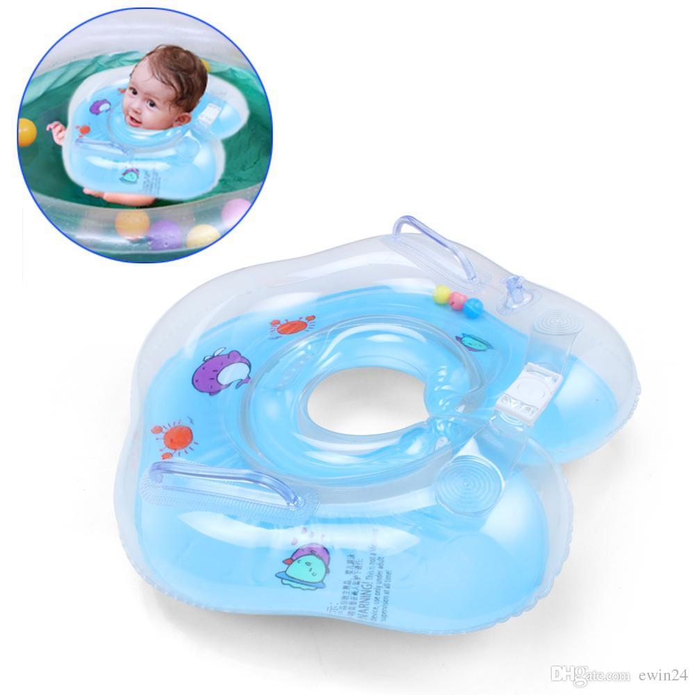 Niños Air Inflator Swim Neck Float Ring Bebé Natación Círculo deportes acuáticos de verano nueva marca de la venta caliente