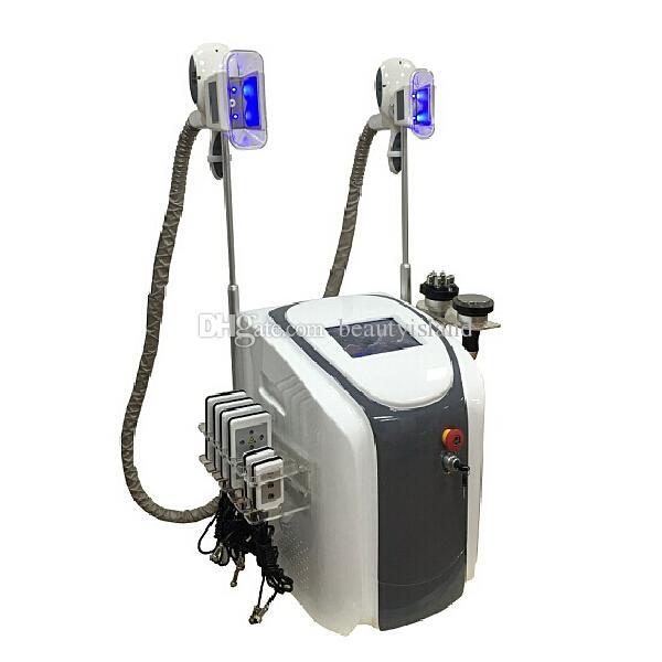 전문 듀얼 핸들 Cryolipolysis Freeze Fat Lipolaser Cavitation RF 지방 동결 Cryo 모양 차가운 바디 조각 몸 슬리밍 기계