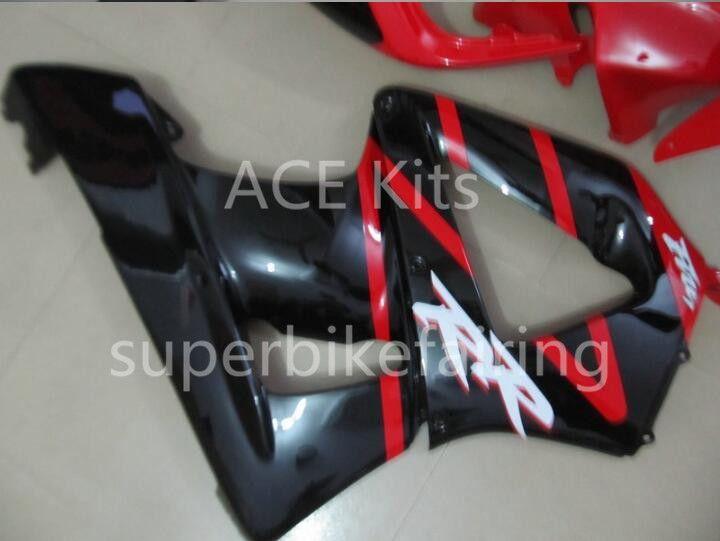 3 regalos gratis Kit de carenado de motocicleta para HONDA CBR900RR 00 01 CBR 900RR 929 2000 2001 ABS Carenados conjunto Negro Rojo AS13