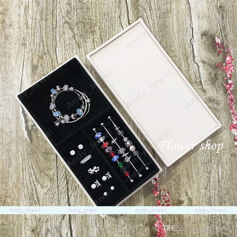 Single Layer Jewellery Boxs fits European Pandora Style Charms Beads Pendants Bracelets and Necklaces brandede DIY Jewelery