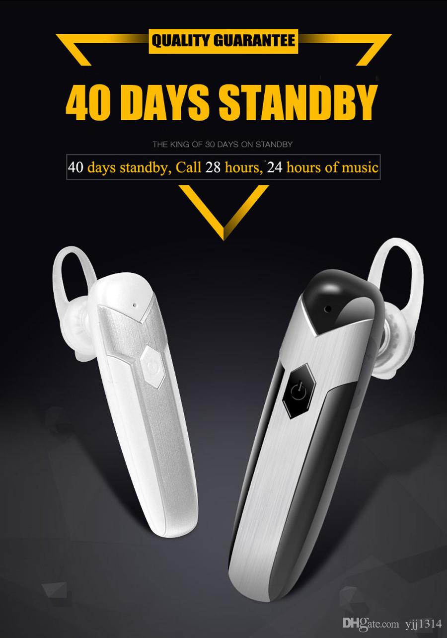 D8 Wireless Long Standby bluetooth Earphone with Microphone Earphone Stereo Music in-ear headset free dhl