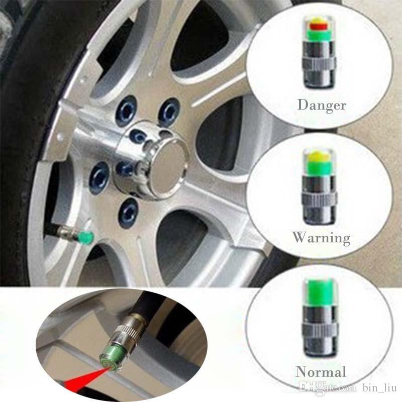 Mini 2.4Bar Neumáticos de coche Tapas de presión de neumáticos TPMS Herramientas Advertencia Monitor Válvula Indicador 3 Alerta de color Herramientas de diagnóstico Accesorios