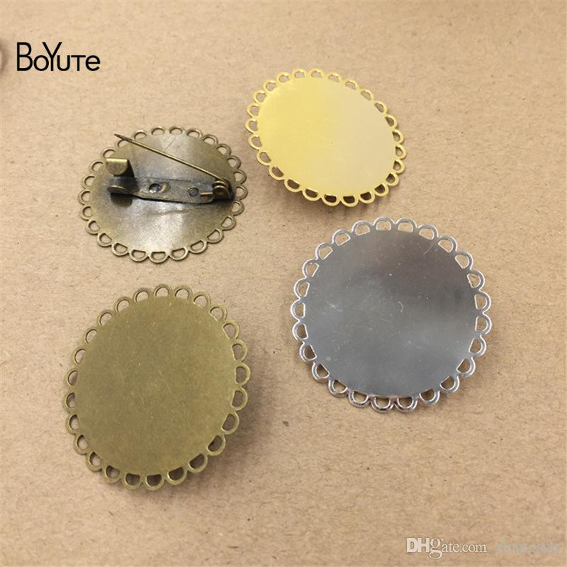 1719c9706 BoYuTe New Product Round 30MM Base Brooch Settings Wholesale Antique ...