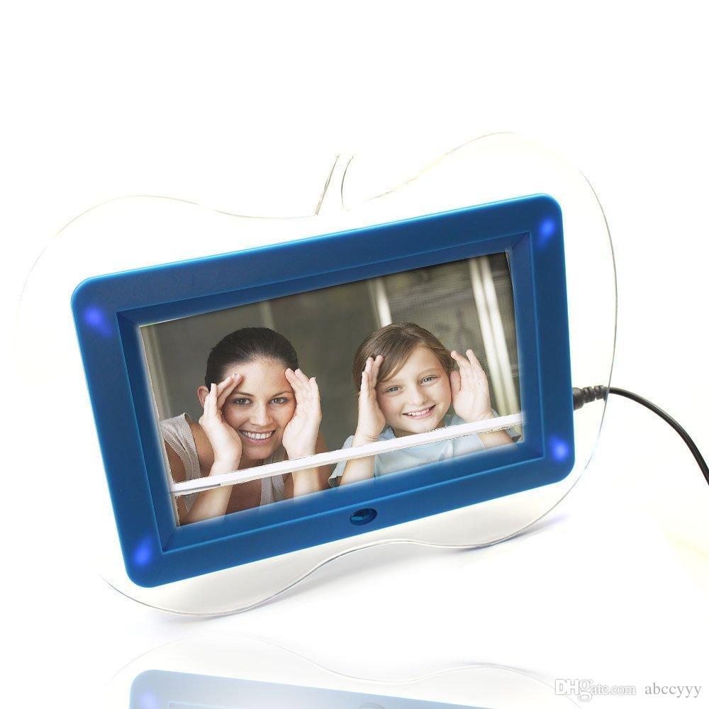 High Resolution LED Digital Photo Frame 1024*600 Scroll Caption ...