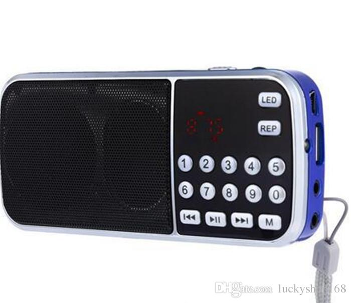 L-088 Tragbarer Lautsprecher MP3-Audio-Musik-Player FM-Radio-Lautsprecher mit Taschenlampe USB AUX TF Slot