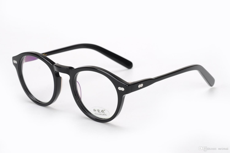 Compre Diseñador De La Marca Redondo Gafas Ópticas Moscot Miltzen ...