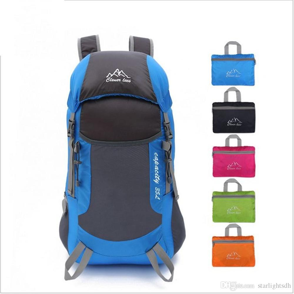 Foldable travelling bag Outdoor backpacking Ultra portable mens and womens mountaineering bag with breathabler Waterproof wear bag207