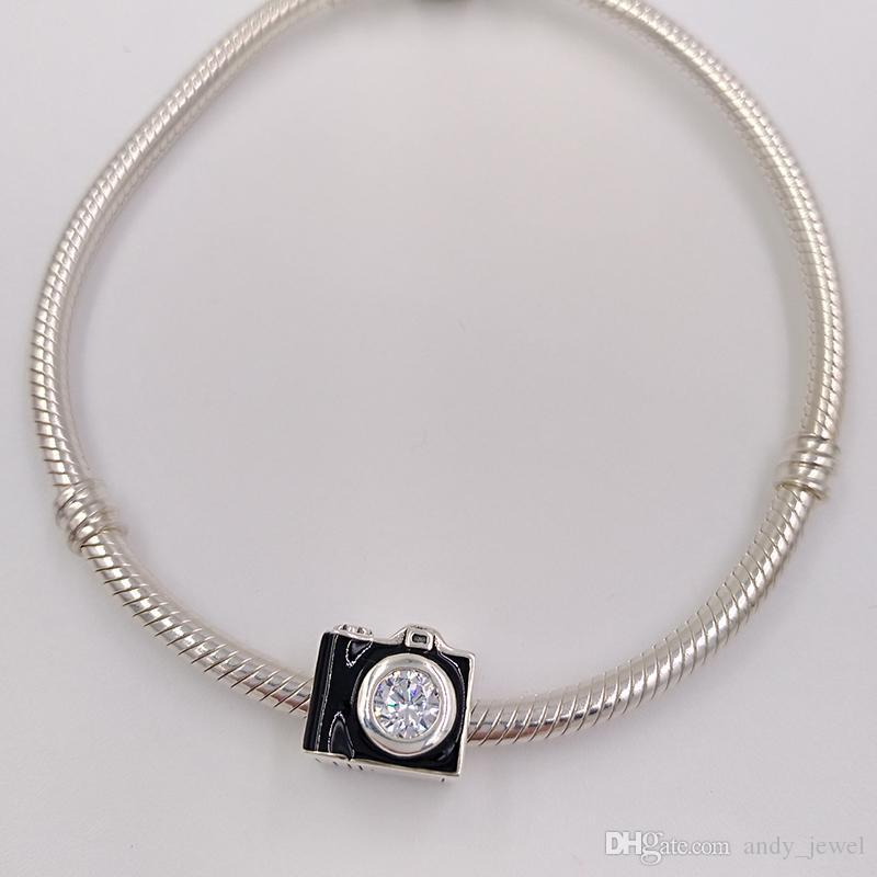 cdb2e0698 ... Authentic 925 Sterling Silver Beads Sentimental Snapshots Charm Fits  European Pandora Style Jewelry Bracelets 791709CZ Camera ...