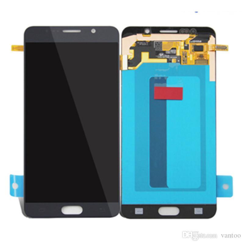 لسامسونج غالاكسي Note5 N920 الأصلي شاشة lcd لمس الشاشة محول الأرقام الجمعية AMOLED استبدال أجزاء الهاتف الخليوي