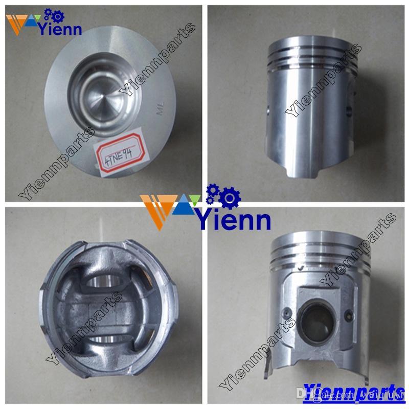 4D94E 4TNE94 4D94LE direction piston 129900-22080 129906-22080 with ring  YM129901-22050 for Komatsu D21A-8 D21P-8 Dozer engine parts