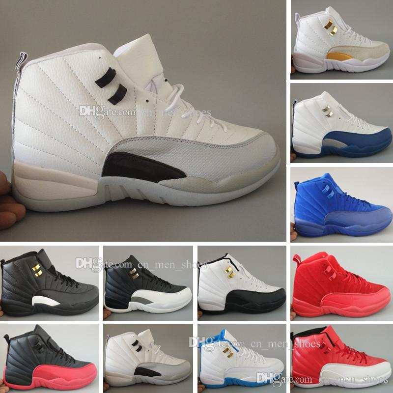 017e19e1634 Cheap New 12 XII Basketball Shoes Women Men 12s TAXI Playoff White Gray  Black Gym Barons Cherry RED Flu Game Sneakers US 5.5-13 Online with   95.76 Pair on ...