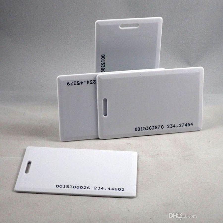 100 adet / grup 125 KHz rfid EM KIMLIK Kalın Kart Erişim Kontrol Sistemi kart RFID Kart 18 iç kodu ile