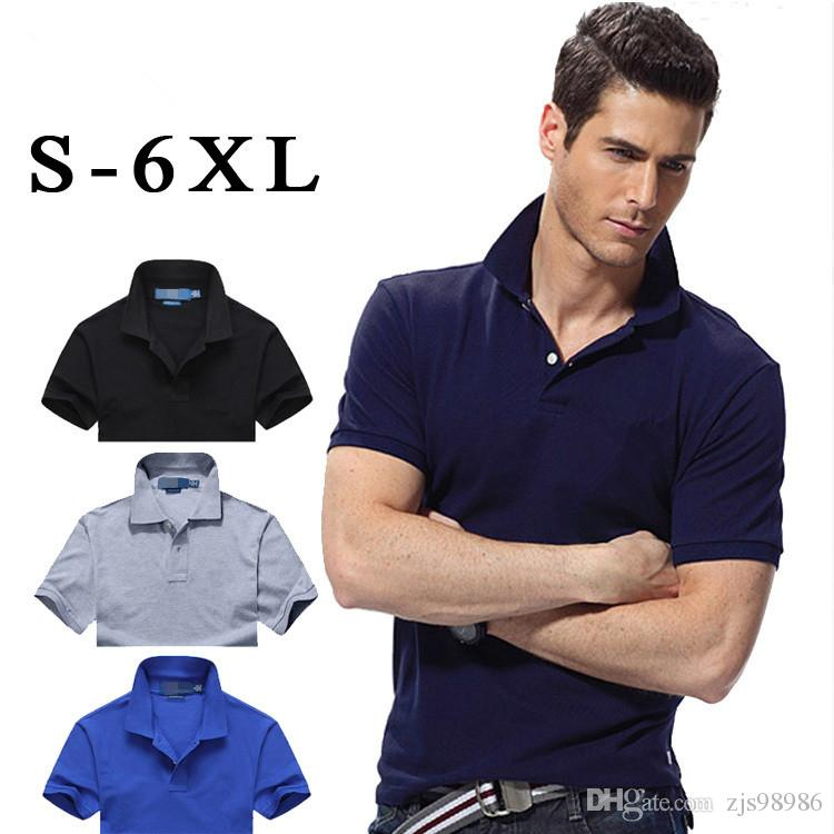 2019 Men Polo Shirt Solid Color Short Sleeve Slim Fit Shirt Men Cotton Polo  Shirts Casual Camisa Polo From Zjs98986 30d926f8bffa7