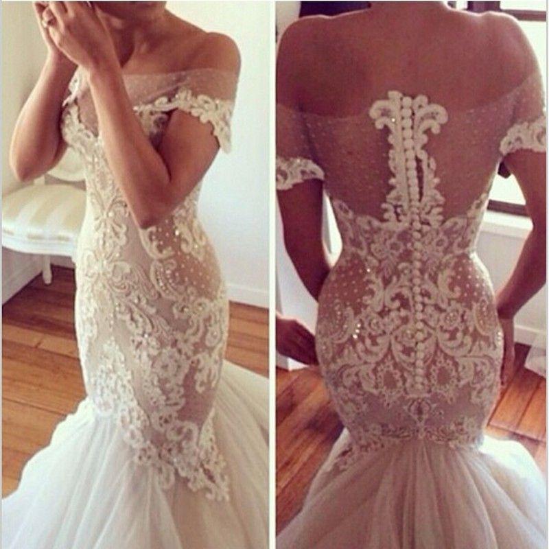 Art Deco Lace Wedding Dress